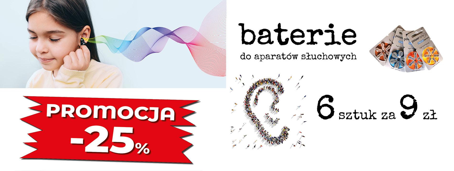 Plakat 01 baterie aparaty słuchowe toruń baner
